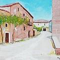 Old Houses Near The Old Church by Mauro Beniamino Muggianu