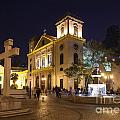 Old Portuguese Colonial Church In Macau Macao China by Jacek Malipan