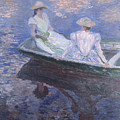 On The Boat by Claude Monet