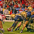 On The Goal Line - Notre Dame Vs Utah by Mountain Dreams