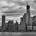 One World Trade Center Bw by Lindley Johnson