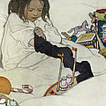 Opening The Christmas Stocking by Jessie Willcox Smith
