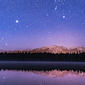 Orion Over Lake Annette by Alan Dyer