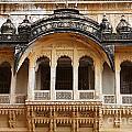 Ornate Balcony At Meherangarh Fort At Jodhpur In India by Robert Preston