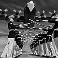 Over The Marine Corps Silent Drill Platoon by Mountain Dreams