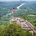 Overlooking Chimney Rock And Lake Lure by Alex Grichenko