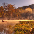 Paddling In Mist by Robert Charity