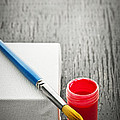 Paintbrush On Canvas by Elena Elisseeva