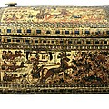 Painted Chest Depicting A King by Everett