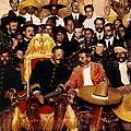 Pancho Villa In Presidential Chair And Emiliano Zapata Palacio Nacional Mexico City December 6 1914 by David Lee Guss