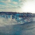 Panorama - Niagara Falls In Winter by Les Lorek