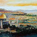 Panorama Of Jerusalem by Luke Karcz