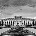 Panorama Of Rice University Academic Quad Black And White - Houston Texas by Silvio Ligutti