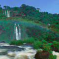 Panoramic View Of Iguazu Waterfalls by Panoramic Images