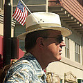 Parade Watcher Flag In Hat July 4th Prescott Arizona 2002 by David Lee Guss
