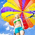 Parasailing On Summer Vacation by Jorgo Photography - Wall Art Gallery