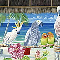 Parrots In Paradise by Danielle  Perry