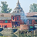 Pasupatinath Temple Of Cremation Complex In Kathmandu-nepal- by Ruth Hager