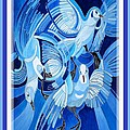 Peace On Earth Greetings With Doves  by Taiche Acrylic Art