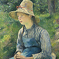 Peasant Girl With A Straw Hat by Mountain Dreams