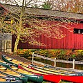 Pennsylvania Country Roads - Bowmansdale - Stoner Covered Bridge Over Yellow Breeches Creek - Autumn by Michael Mazaika