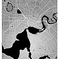 Perth Street Map - Perth Australia Road Map Art On Colored Backg by Jurq Studio