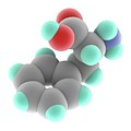 Phenylalanine Molecule by Alfred Pasieka/science Photo Library