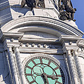 Philadelphia City Hall Clock by Jerry Fornarotto
