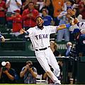 Philadelphia Phillies V Texas Rangers by Tom Pennington