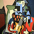 Picasso's Harlequin Musician by Cora Wandel