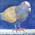 Pigeon On Snowy Wall by Patricia Blanton