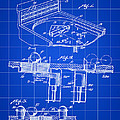 Pinball Machine Patent 1939 - Blue by Stephen Younts
