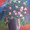 Pink Flowers by Bozena Zajaczkowska