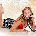 Pinup Girl On The Phone by Jt PhotoDesign