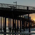 Pismo Beach Pier At Sunset, San Luis by Panoramic Images