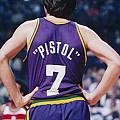 Pistol Pete Maravich by Paint Splat