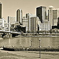 Pittsburgh In Sepia by Frozen in Time Fine Art Photography