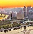Pittsburgh Sunrise Panorama by Adam Jewell