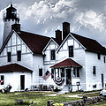 Point Iroquois Lighthouse Michigan by Evie Carrier