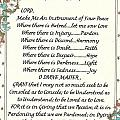 Pope Francis St. Francis Simple Prayer For Peace by Desiderata Gallery
