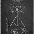 Portable Drum Patent Drawing From 1903 - Dark by Aged Pixel