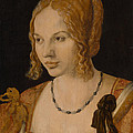 Portrait Of A Young Venetian Woman  by Albrecht Durer