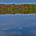 Fall Colors And Cumulous Clouds by Deb Breton