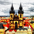 Prague Church Of Our Lady Before Tyn by Justyna JBJart