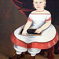 Prior Hamblin School's Little Girl With Slate by Cora Wandel