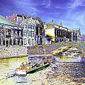 Psychedelic Bruges Canal Scene by Peter Lloyd