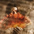 Psychic Clairvoyant Holding Mystery And Magic Fan by Jorgo Photography - Wall Art Gallery