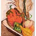 Pumpkin In Bowl by Sandra Stone