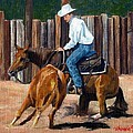 Quarter Horse Cutting Horse by Olde Time  Mercantile