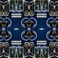 Radio Parts In Blue by William Durfey